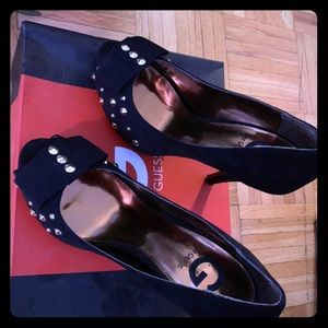 Guess suede black heels. Size 7 worn once